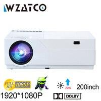 WZATCO проектор Full HD 1920x1080 Разрешение поддержка проектора AC3 дома Театр 5500 люмен (опционально Android 7,1 WI FI) M18