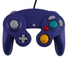 Nuevo Controlador de Juego Gamepad Joystick para Nintendo GameCube Para Wii Platino Púrpura