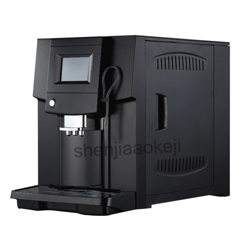 Touch Commerical Fully Automatic coffee machine LCD espresso coffee machine & coffee grinder 19 bar cappuccino maker 220v 1250w цены онлайн
