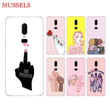 Feminist Girls Phone Back Case for OnePlus 7 Pro 6 6T 5 5T 3 3T 7Pro Art Gift Patterned Customized Cover Coque Capa