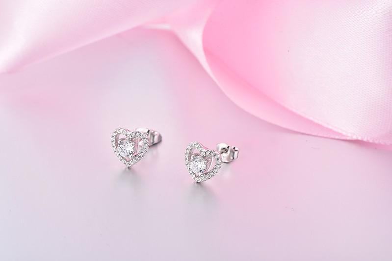 sterling silver stud earrings wholesale jewelry DE08310A (3)