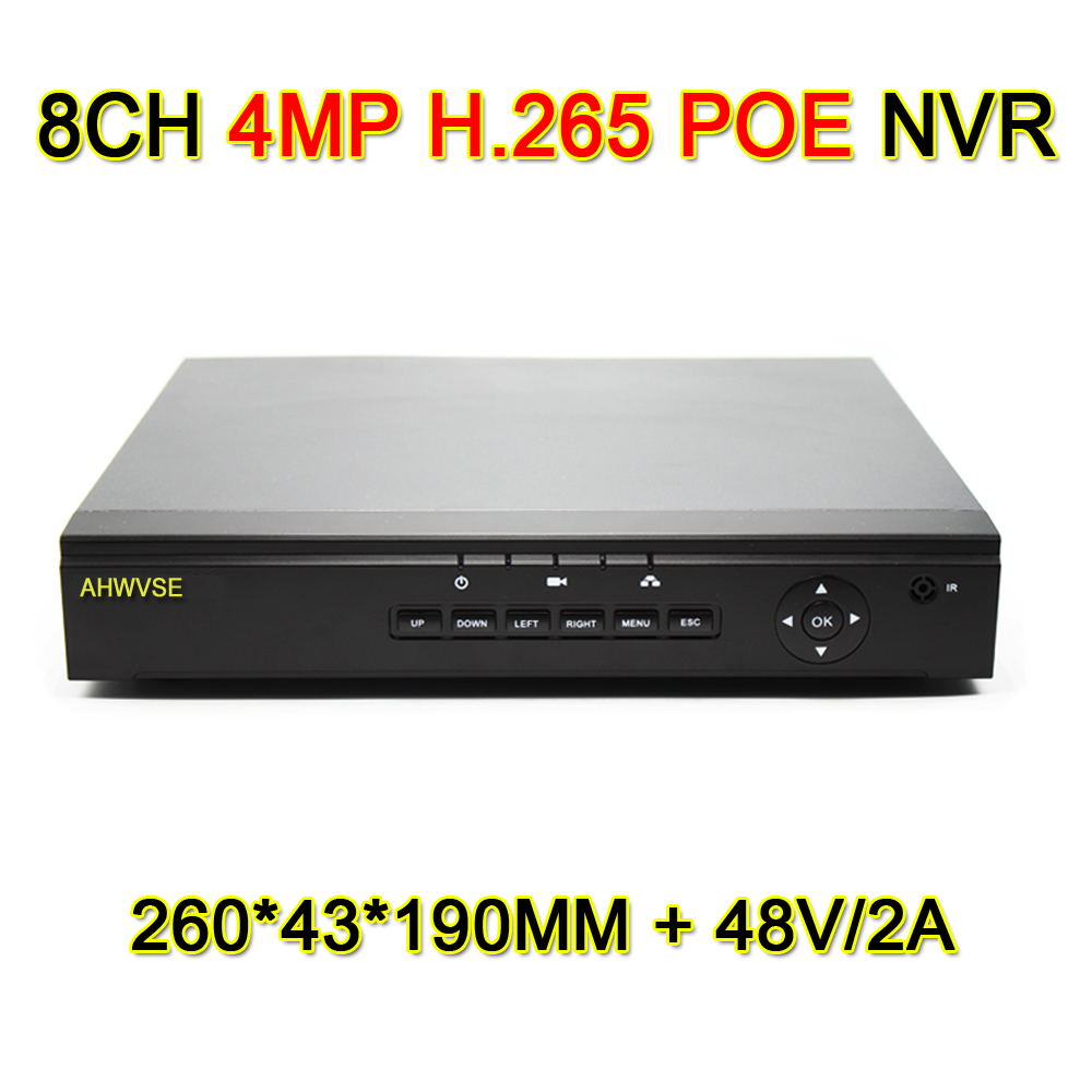 H.265 CCTV PoE NVR 4CH 4MP 8CH 4MP IEE802.3af 48V PoE CCTV Video Recorder For H.265 H.264 IP Camera PoE