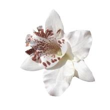 Nueva Novia de La Boda Flor de La Orquídea Del Pelo Clip Barrette Mujeres Niñas Accesorios 1 unids Blanco