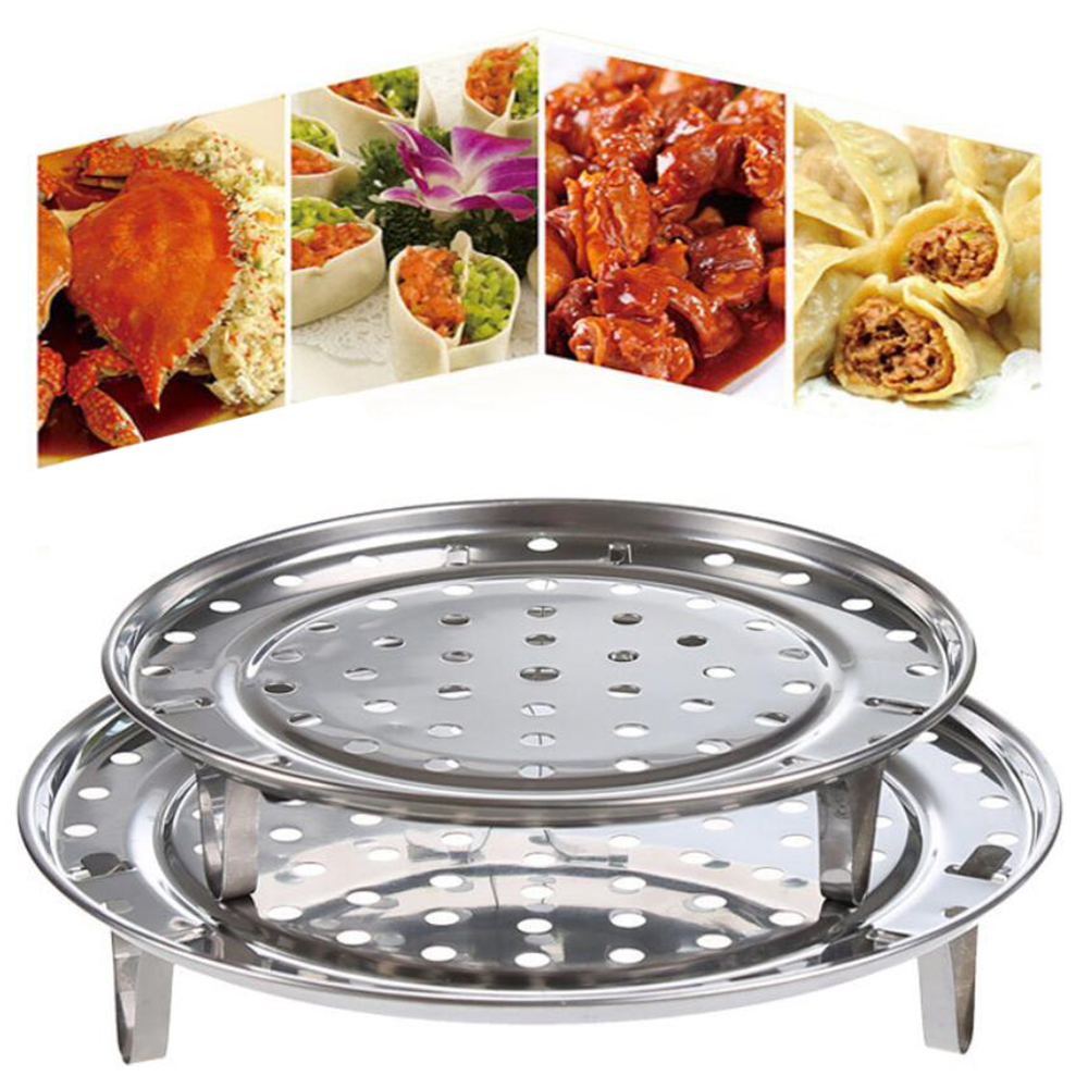 Multi-function Durable Steamer Rack Stainless Steel Pot Steaming Tray Stand Steamer Shelf Cookware Kitchen Accessories 100gA