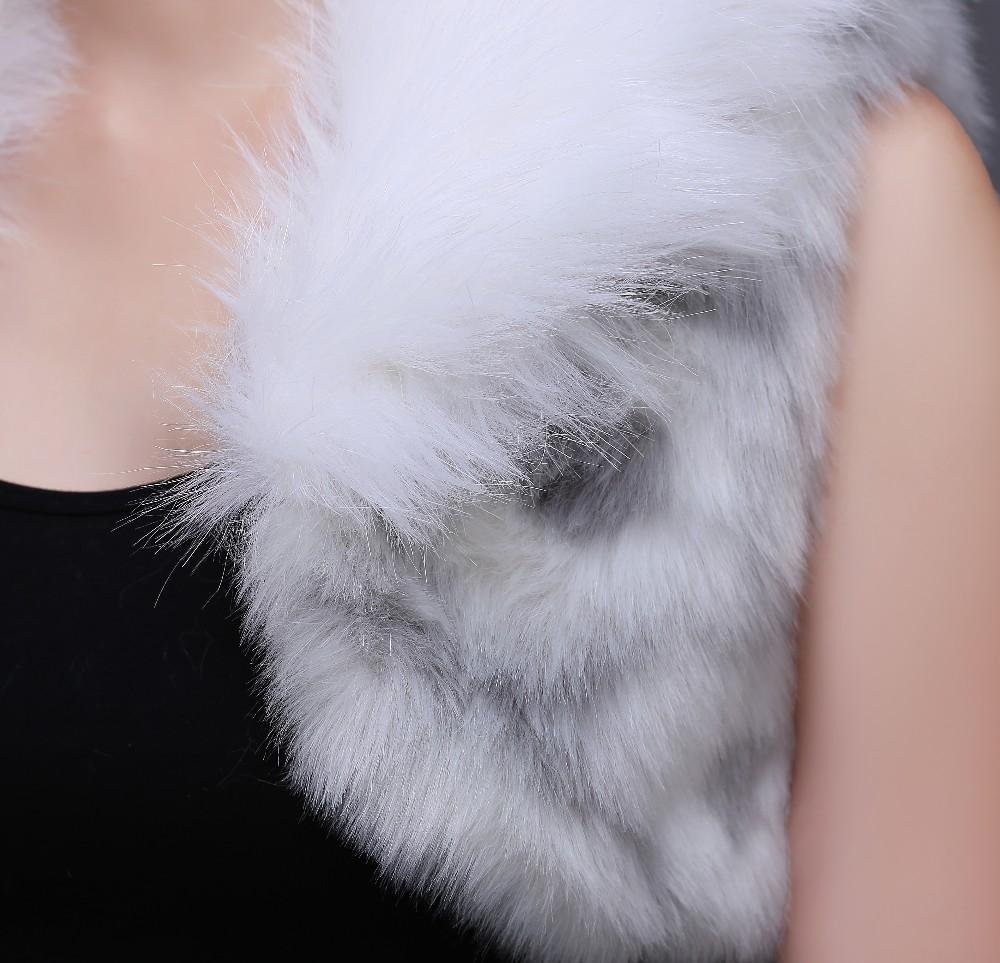 Bridal Fur Jacket Wrap Bolero