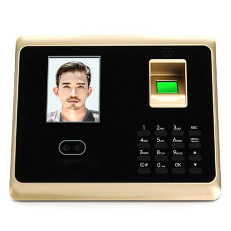Fingerprint Attendance Machine, Fingerprint Face Access Control System Set With 2.8 Inch LCD Screen EU Plug