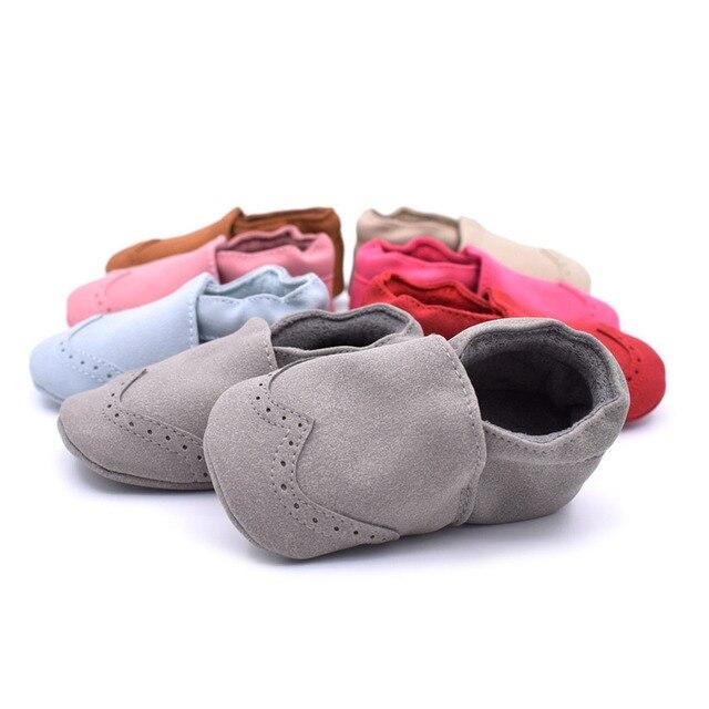 4e5ac7406b217 Bébé chaussures nouveau-né chaud en cuir pantoufle enfants chaussons hiver  mocassins Nubuck chaussures enfant