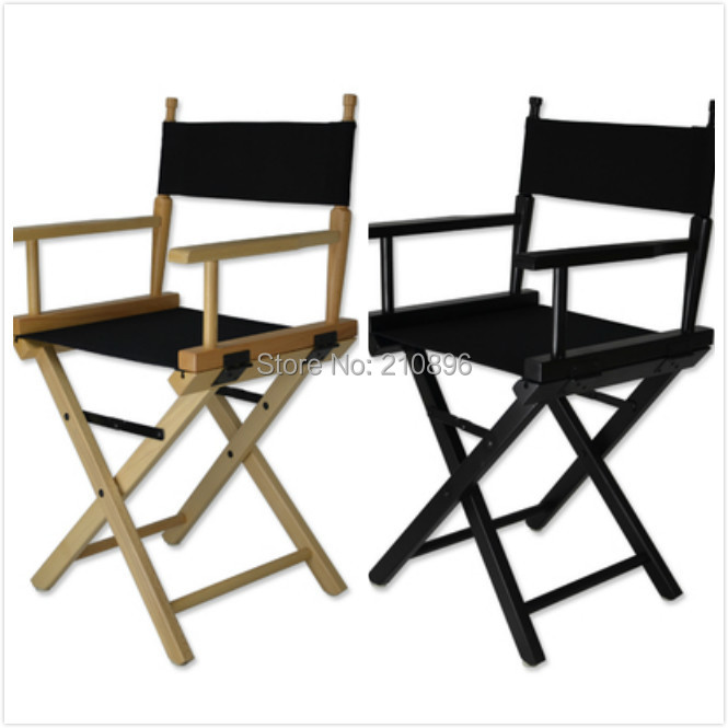 smaller folding makeup wood chair aluminum director chair portable foldable wood chair black and wood colors