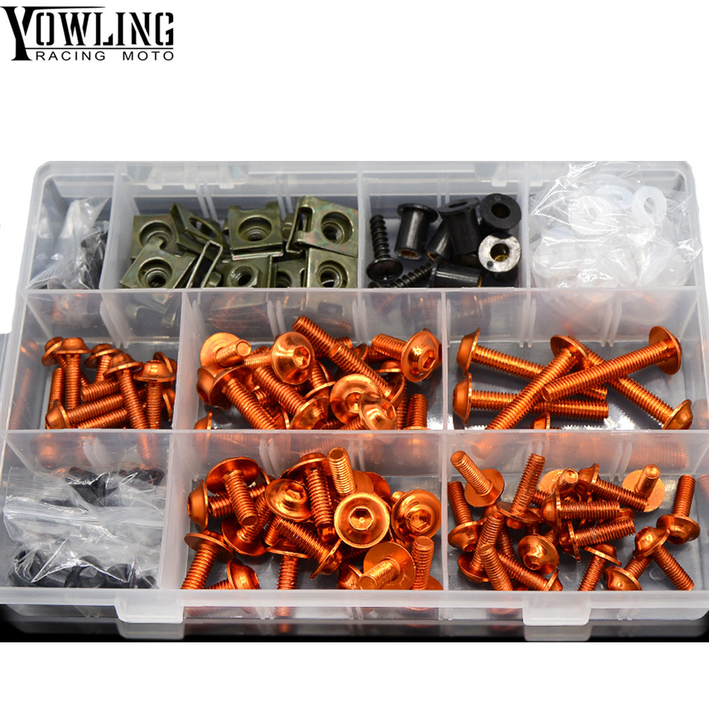 Motorcycle Accessories motorcycle body work fairing bolts screws For KTM 990 Super Duke RC8 R 690 Duke 1290 Super Duke R in Covers Ornamental Mouldings from Automobiles Motorcycles
