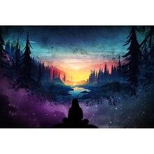 5D DIY Full Square Diamond Embroidery Fantasy world beautiful trees starry man Cross Stitch Mosaic Painting Decor H87