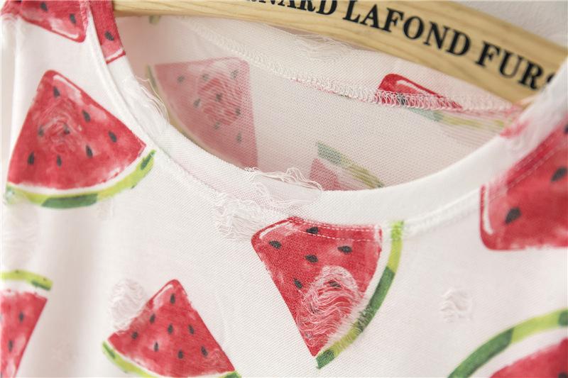 HTB1K5JZPFXXXXcnXXXXq6xXFXXXX - Tassel Design Hole T-shirt Print Frayed Hole T Shirts