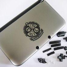 Многоцветная консоль с полным корпусом, запасные части корпуса + инструмент для Nintendo для 3DS XL/3DS LL