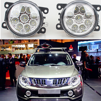 9W High Brightness Round LED Fog Lights For Mitsubishi L200 2008 2014 Car Styling Forward Driving