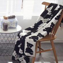 New Nordic Cover Blanket Bear Simple Fashion Cotton Knitted Sofa Casual Home Textile Throw