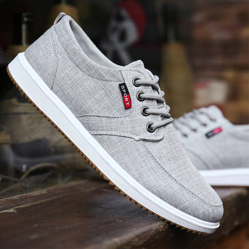 Flats Vulcanize-Shoes Lightweight Canvas Men Male Breathable Fashion Classic Lace-Up