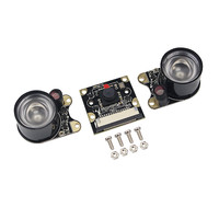 ir led Raspberry Pi 3B Camera Module 1080p 5MP Night Vision Camera + 2 pcs IR Sensor LED Light for Raspberry Pi 3/2 Model B (1)