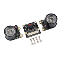 Raspberry Pi 3B Camera Module 1080p 5MP Night Vision Camera + 2 pcs IR Sensor LED Light for Raspberry Pi 3/2 Model B for raspberry pi 3 model b camera module 1080p camera 5mp webcam video camera compatible for raspberry pi 2 model b
