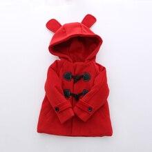 Девушки пальто Yangmei дети 2016 зима новый игривый Капюшоном Пальто уха клип хлопка пальто