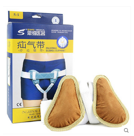 ФОТО Adjustable Men& inguinal Hernia Support Belt Professional Medical for reducible inguinal ruptures Double Truss Support Strap