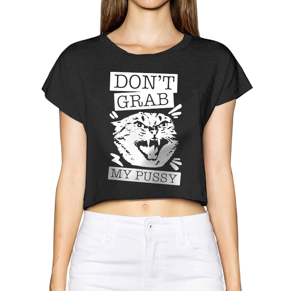 samcustom 2017 cat don't grab my pussy women 3d print fashion crop