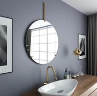Simple Nordic Wall Mounted Round Bath Mirror For Toilet Bathroom Bedroom Living Room Hallway Wall Hanging Mirror DecorLFB987