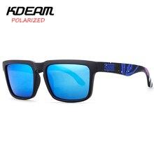 KDEAM 2017 NEW Men Sport Sunglasses Square Polarized Sun Glasses Women HD mirror lens UV400 With Case KD901P