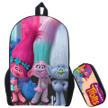 16-inch Mochilas Infantil Trolls Bag Cartoon Backpack Kids Boys Age 7-13 Children School Bags Boy&Girls