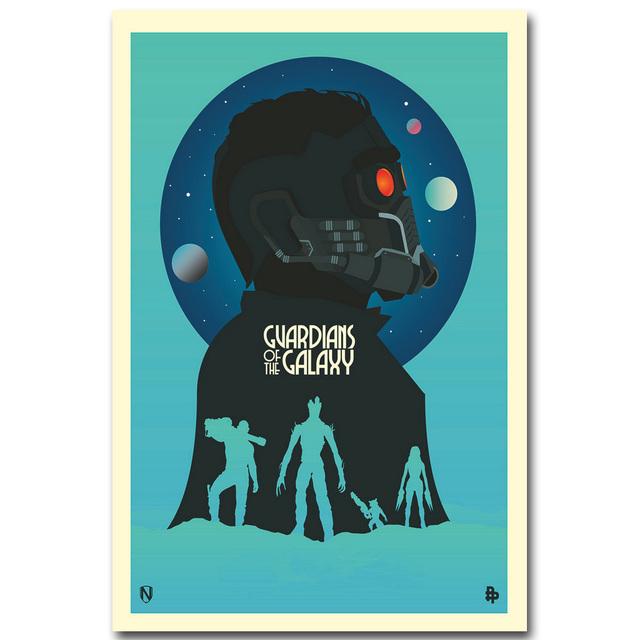 STAR LORD – Guardian of The Galaxy Art Silk Fabric Poster minimalism Print