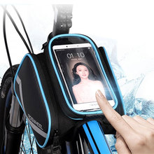 ROSWHEEL Bicycle Smart Phone Bag 5.7 / 6.2 inch Large Touch Screen MTB Road Bike Cycling Top Frame Tube Basket Storage D12813M стоимость
