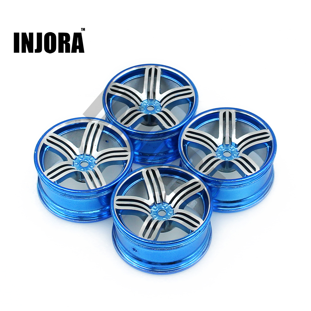 4Pcs Aluminum Alloy 52*26mm Tire Hub Wheel Rim for 1/10 RC On Road Run-flat Car HSP HPI Traxxas Tamiya Kyosho 1:10 Drift Parts aluminum 6 spoke wheel rim for 1 10 rc on road racing car