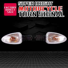 1 Pair Motocycle steering font b lamp b font Cornering Turn Signals Indicator Light Front And
