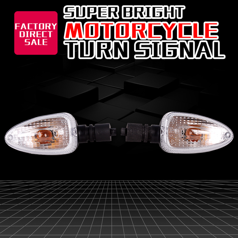 1 Pair Motocycle Steering Lamp Cornering Turn Signals Indicator Light Front And Rear For BMW F650GS 650 F800R R1150GS R1200GS