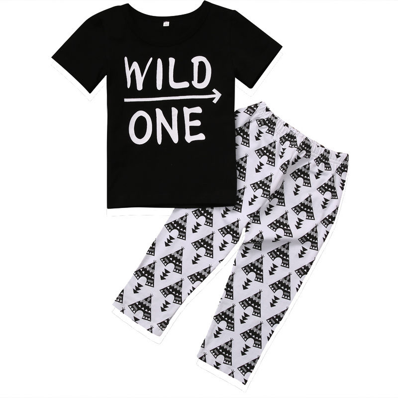 Newborn Baby Clothes Sets T-shirts Boy Short Sleeve O-Neck T-shirt Kids Boys Tops Print Pants Boy 2pcs Outfits Clothes Set 0-24M soft solid kids boys t shirt candy color long sleeve baby girls t shirts cotton children s t shirt o neck tee tops boy clothes