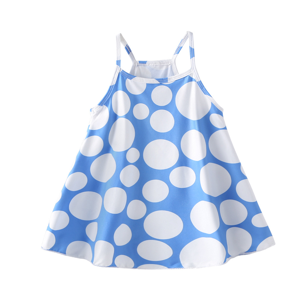 Sleeveless Toddler Girl Summer Dress Floral Print Cotton Baby Clothes