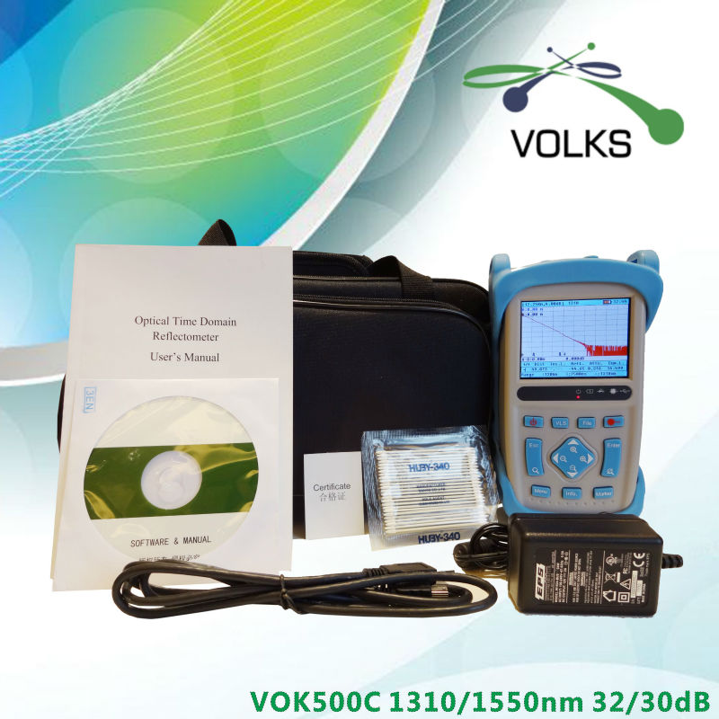 Optical fiber test instrument OTDR VOK500C 160km 32/30dB free shippingOptical fiber test instrument OTDR VOK500C 160km 32/30dB free shipping