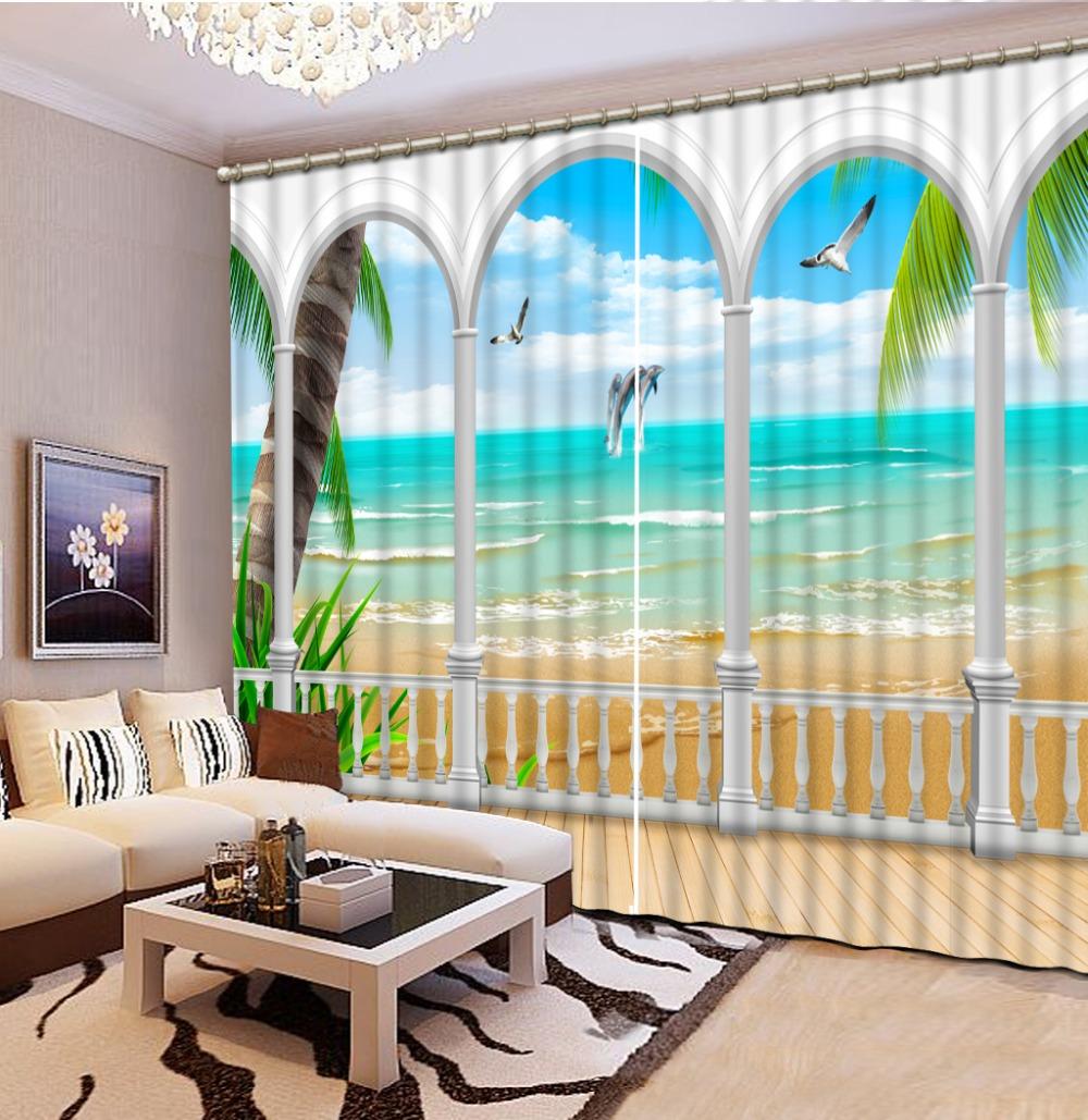 romano europea cortinas para las ventanas de la decoracin del hogar del paisaje d cortinas blackout cortina de la cocina
