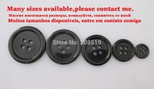 NB0162 Black buttons 10MM 4 Holes shirt button 500pcs/lot garment accessory Craft (15mm/20mm/23mm/25mm in stock)