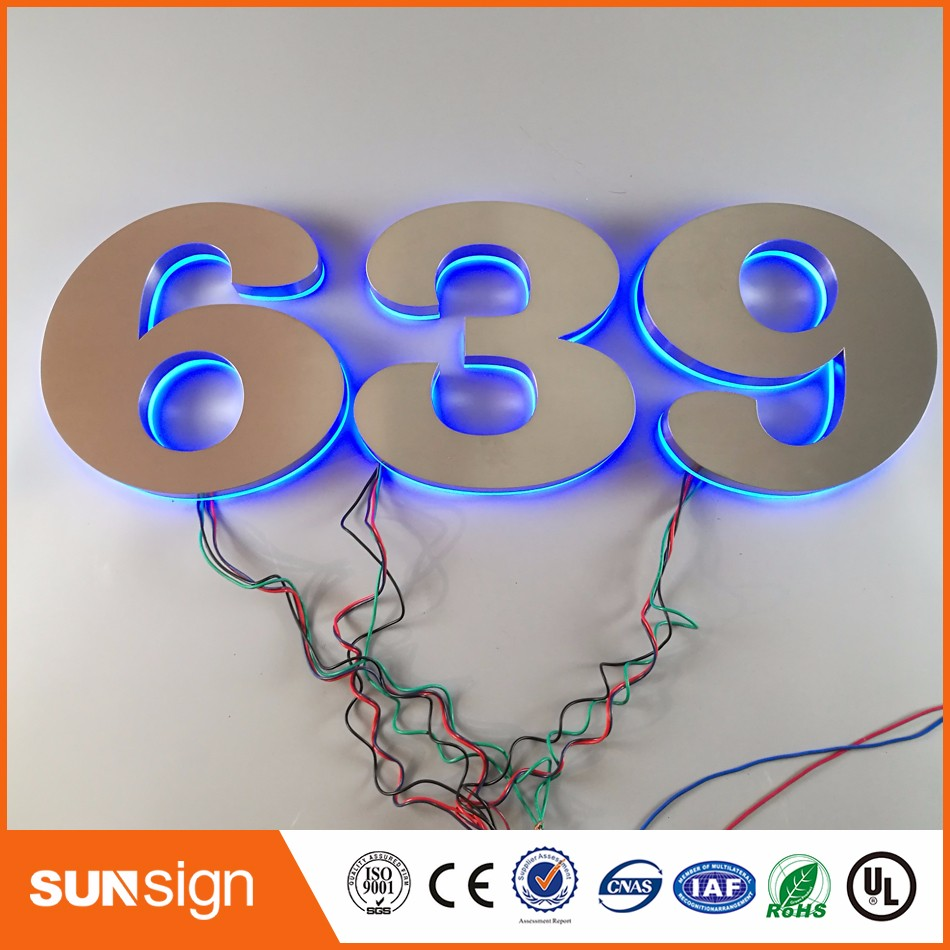 Wholesale Hotel Use House Number LED Backlit Letters