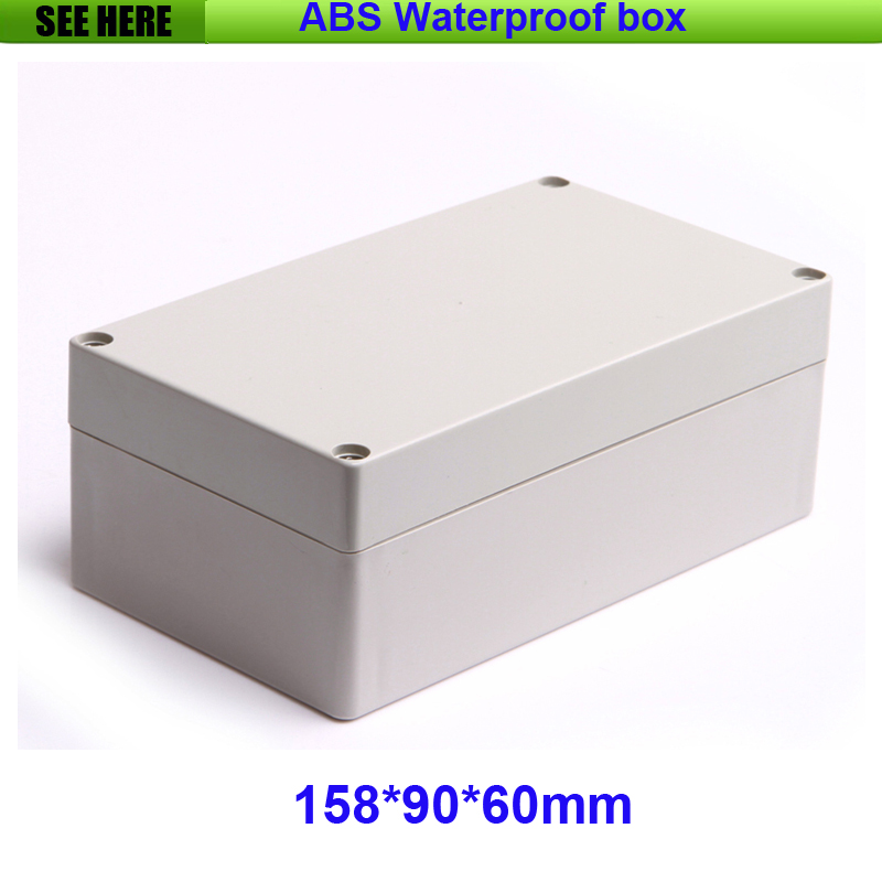 Free Shipping Plastic Waterproof Box IP65 Plastic Box Electronic Case Custom Project Boxes 158*90*60 mm 4pcs a lot diy plastic enclosure for electronic handheld led junction box abs housing control box waterproof case 238 134 50mm