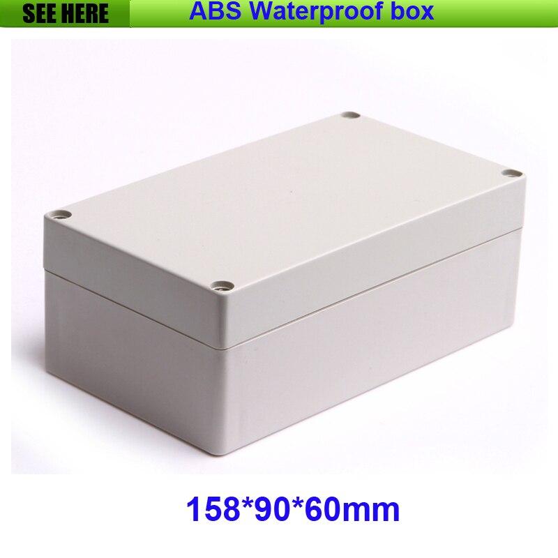 Livraison Gratuite Boîte En Plastique Étanche IP65 En Plastique Boîtier Électronique Boîte de Projet Personnalisé Boîtes 158*90*60mm