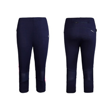 Professional running tight pants female summer track field fitness movement seven points pants speed dry tight trousers LWWDK1