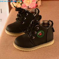 KKABBYII Children Martin Boots Spring Autumn Boys Shoes Winter Snow Girls Boots Skid Warm Breathable Lace