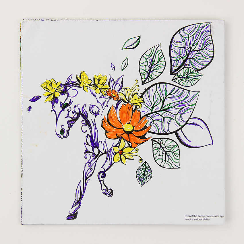 24 Pages Beautiful Wonderland Exploration Flower Coloring Book Painting  Graffiti Book Children Adult Time Drawing Book