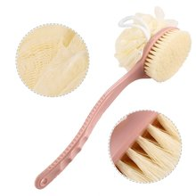 Body Brush Bath Wash Shower Exfoliating Dry Back Scrubber Long Handle Flower Two-In-One Ball