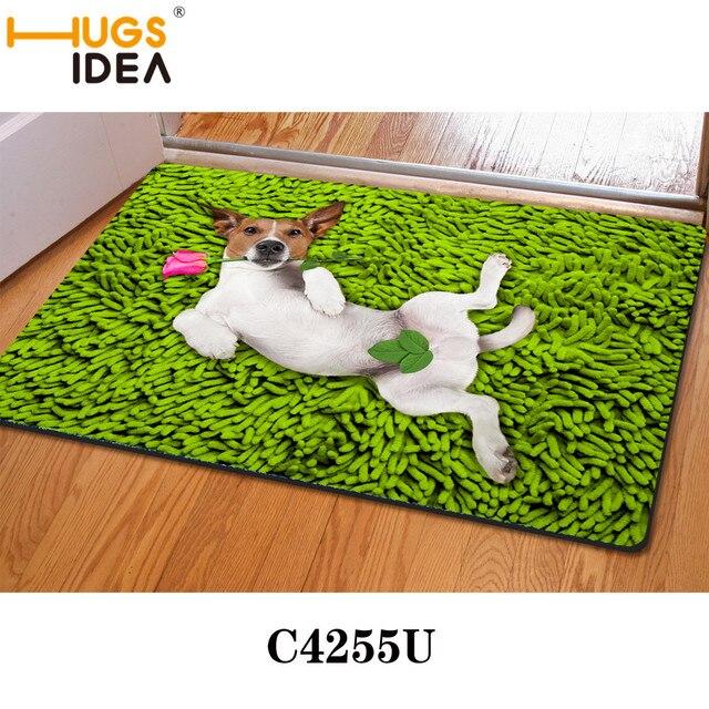 Grun Sexy Hund Lustige Design Badematten Dunne Kuche Teppiche Gelb