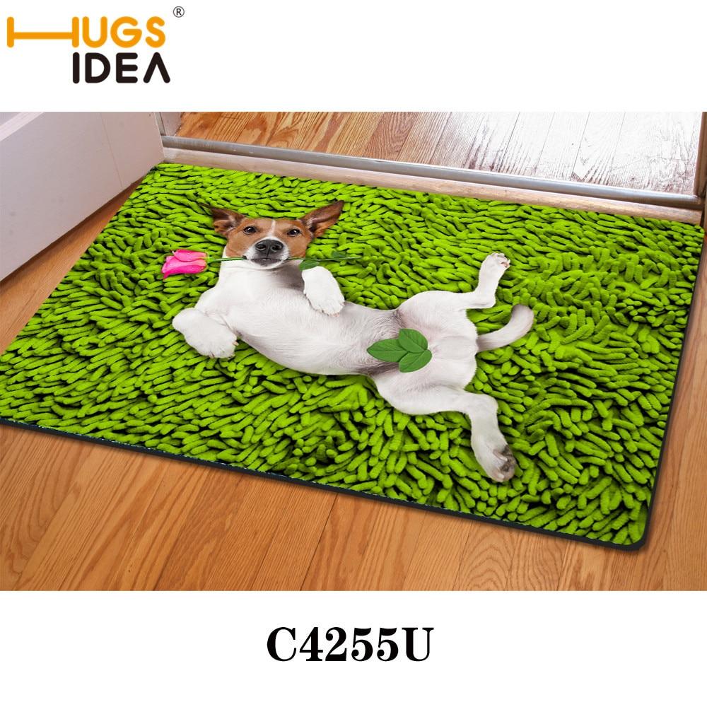 Green sexy dog funny design bath mats thin kitchen carpets yellow purple bathroom carpet rugs and