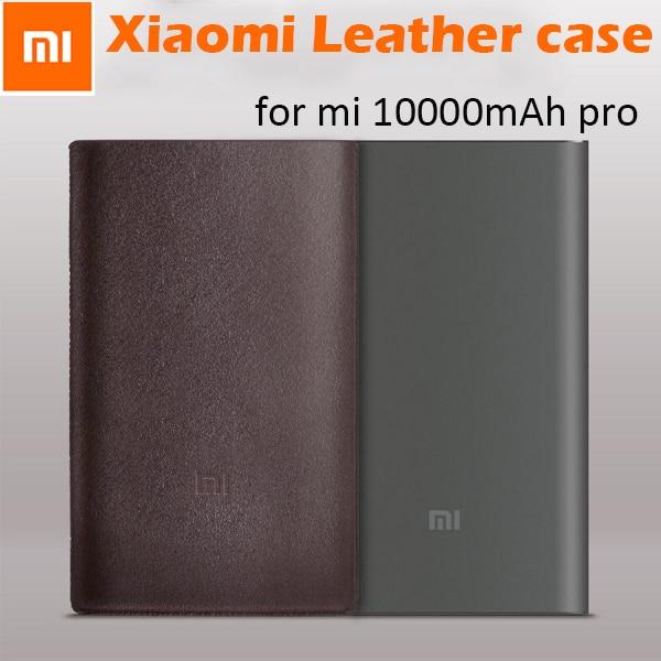 100% Original Xiaomi Mi Power Bank 10000mah Pro Protetive Case PU Leather Pouch Cover Mi 10000 Powerbank Pro Case (No PowerBank)