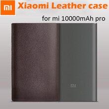 100% oryginalny powerbank do xiaomi mi 10000mah Pro Protetive case PU skórzane etui pokrywa mi 10000 PowerBank pro case (bez powerbanku)
