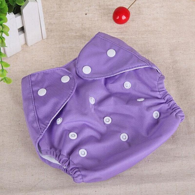 1 шт., регулируемые многоразовые тканевые подгузники для маленьких мальчиков и девочек, мягкие чехлы для младенцев, моющиеся подгузники - Цвет: Фиолетовый
