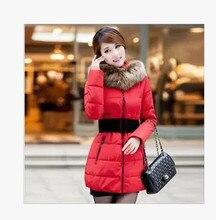 Зимнее пальто, Женщины хлопок зимние-мягкие одежды, С капюшоном воротники длинную одежду. Развивать мораль , чтобы согреться